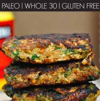 Easy HEALTHY Curried Tuna Patties- Cost effective, easy, simple and freezer friendly, these delicious and satisfying patties are perfect for meals, lunch boxes or a low carb snack! {paleo, whole 30, gluten free, grain free recipe}- thebigmansworld.com