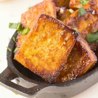 Easy crispy baked tofu in the oven