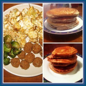 Laura's chick-less nuggets | Davida's grain free protein pancakes | Alex's peanut butter pancakes
