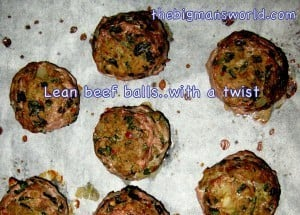 Lean beef meatballs with a twist