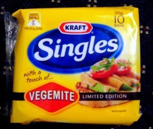 Kraft Singles with Vegemite