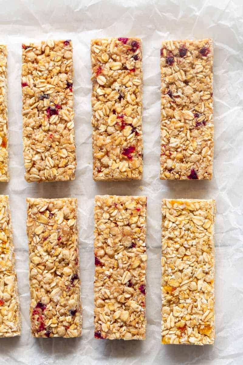 no bake nut free granola bars