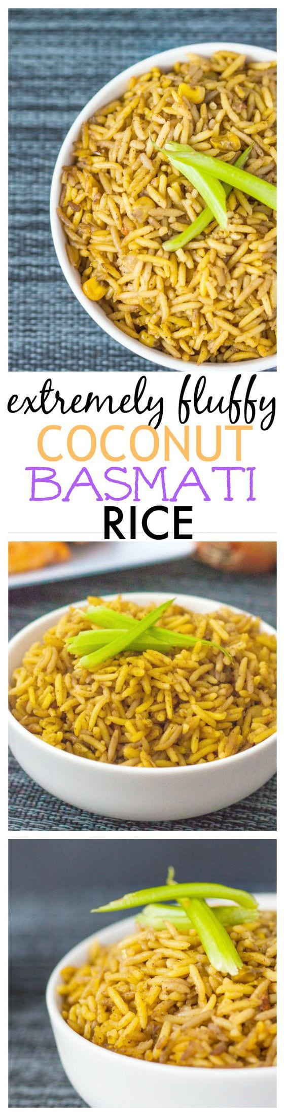 Fluffy Coconut Basmati Rice- You'll never go back to standard rice after this method, which is perfect with any dish! {vegan + gluten free}