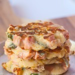 Healthy Sweet potato and cheddar pancakes