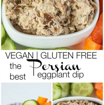 The best Persian Eggplant Dip- #vegan and #glutenfree- thebigmansworld.com