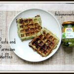 Pesto and Parmesan Waffles