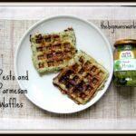Pesto and Parmesan Waffles