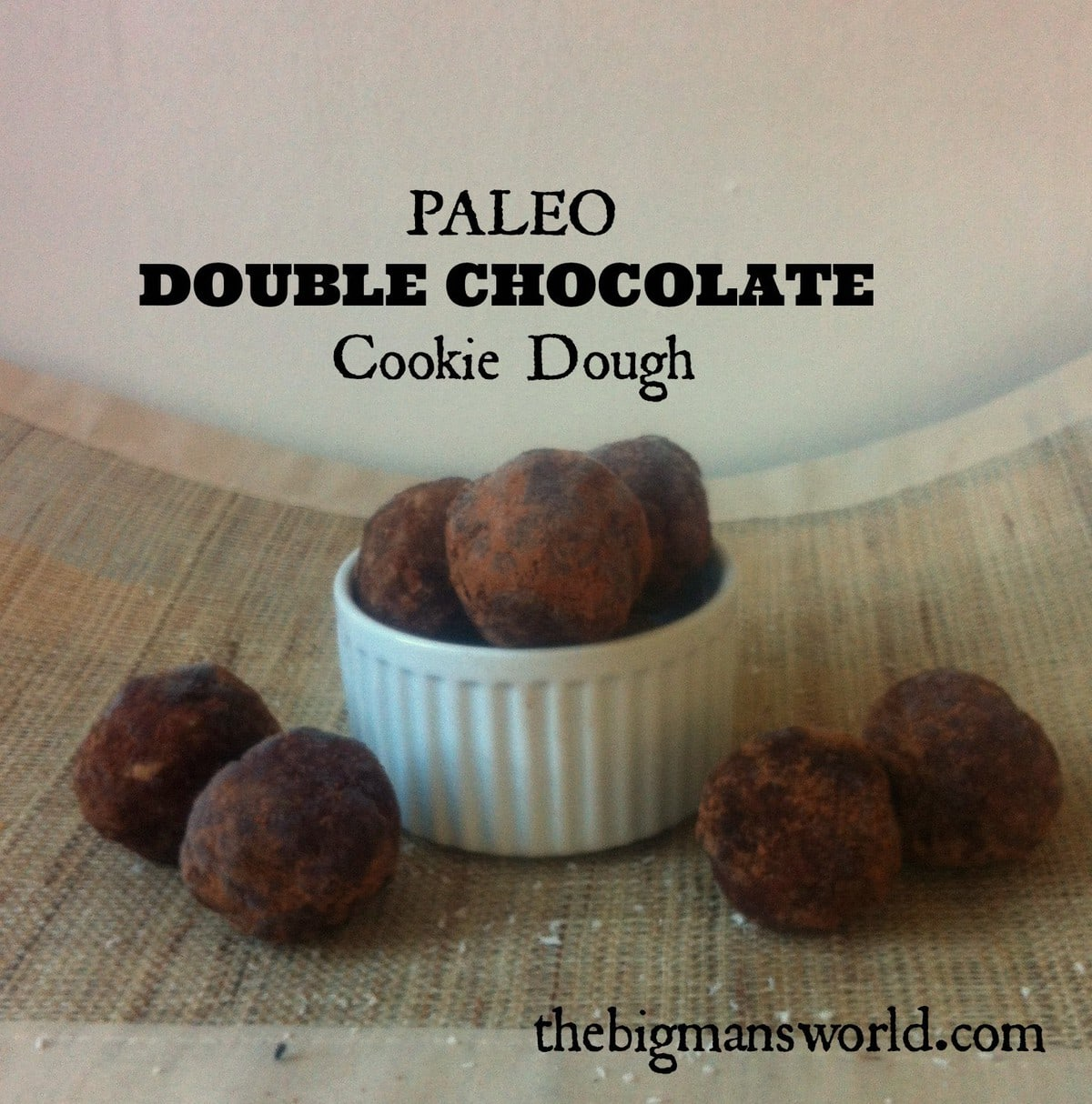 Paleo Double Chocolate Cookie Dough (Based off my Paleo Cookie Dough )