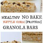 [Healthy] No Bake Kettle Corn Granola Bars
