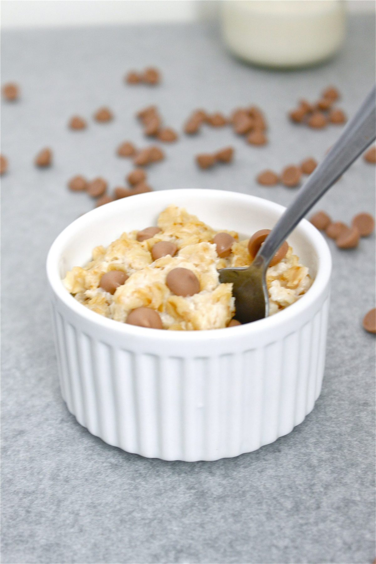 Caramel Cookie Dough Oatmeal- The taste and texture with a healthy twist! Vegan, gluten free and low sugar!