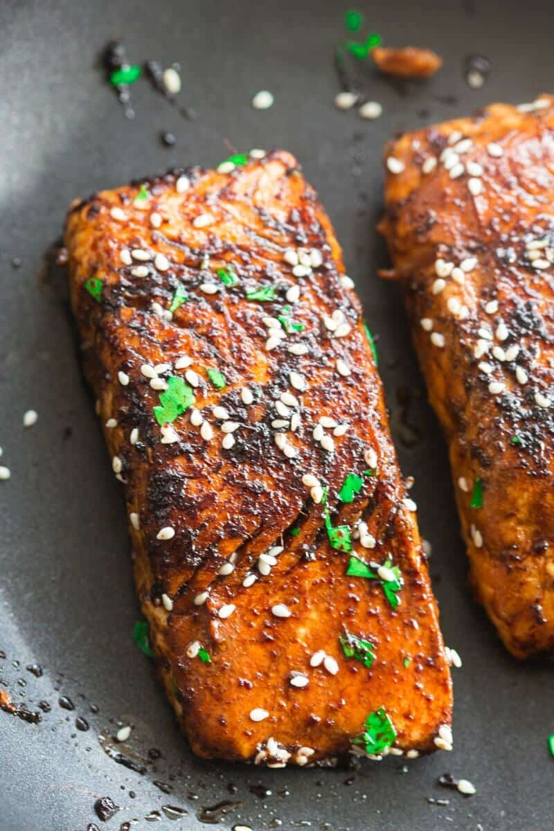 pan cooked salmon
