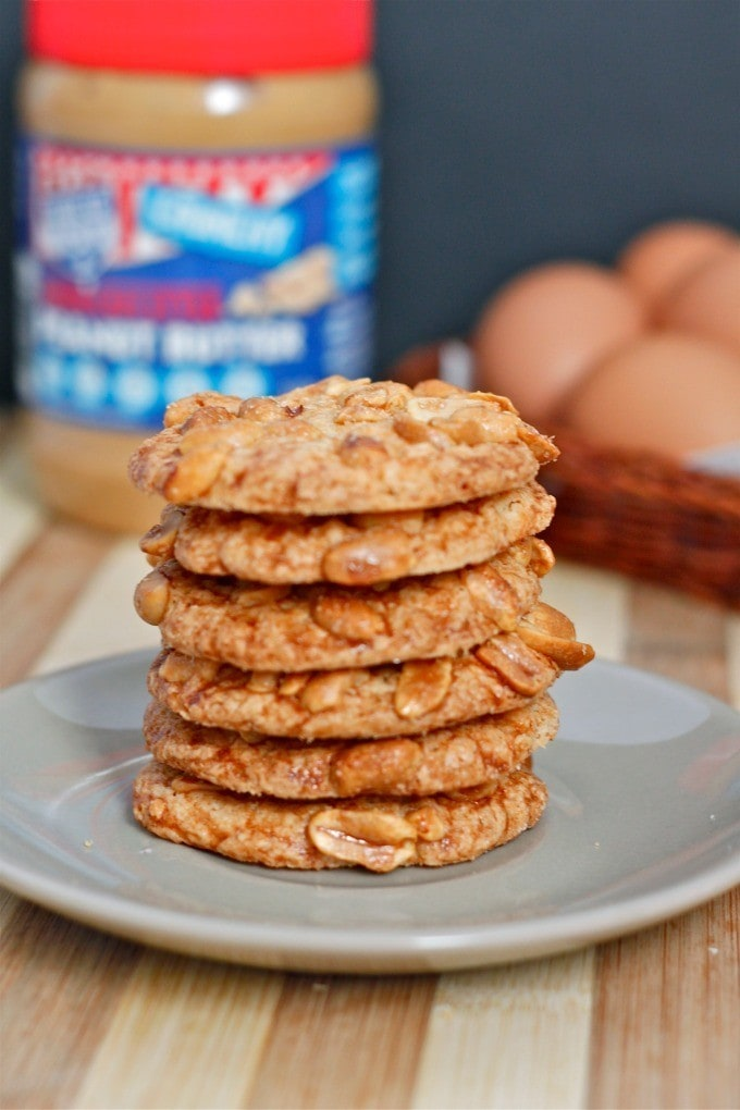 Crispy Flourless Peanut Butter Cookies