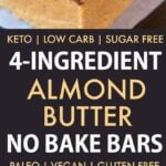 4 Ingredient No Bake Paleo Protein Bars (Vegan, Gluten Free, Sugar Free)