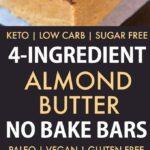 4 Ingredient No Bake Paleo Protein Bars (Vegan, Gluten Free, Sugar Free)