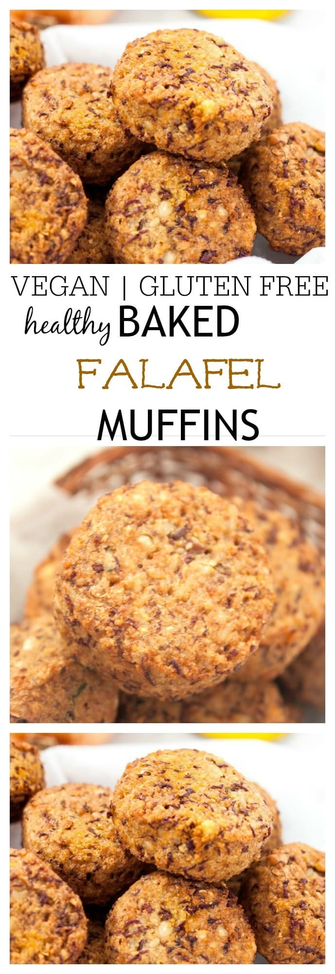 Healthy Baked Falafel Muffins- These crispy, high protein baked falafel muffins are completely vegan and gluten free! Naturally low in fat, these healthy savoury bites are low in fat and the perfect snack or meal addition! @thebigmansworld - thebigmansworld.com
