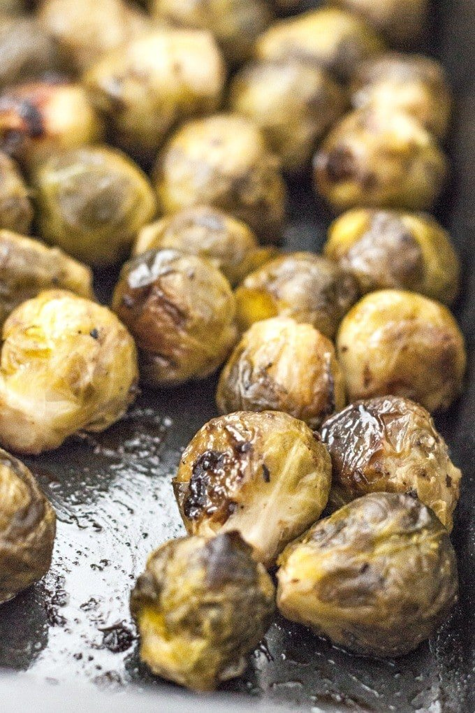 The BEST Balsamic Roasted Brussels Sprouts- Easy, delicious and healthy too! {vegan, gluten free, paleo recipe}- thebigmansworld.com