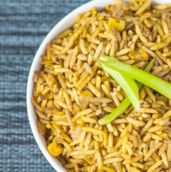 Fluffy Coconut Basmati Rice (Gluten Free, Vegan)- thebigmansworld.com