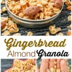 Gingerbread Almond Granola