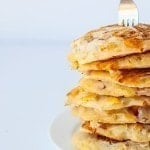Healthy Four Cheese Pizza Pancakes