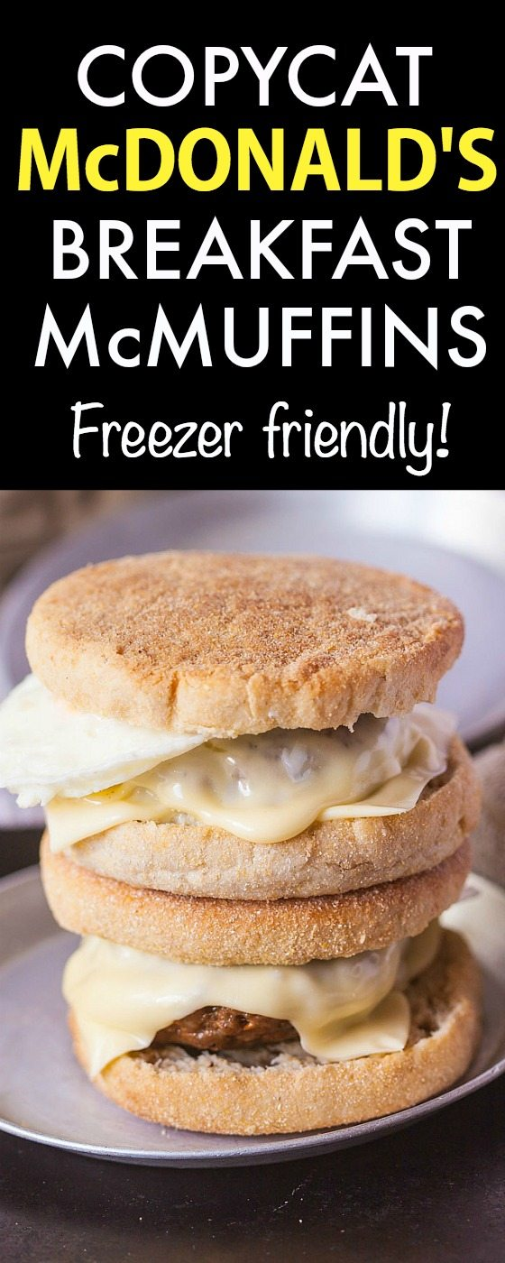 Copycat McDonald's Breakfast Sandwiches- The infamous McMuffin can be made at home- Healthy, delicious and even better- FREEZER FRIENDLY TOO! - thebigmansworld.com