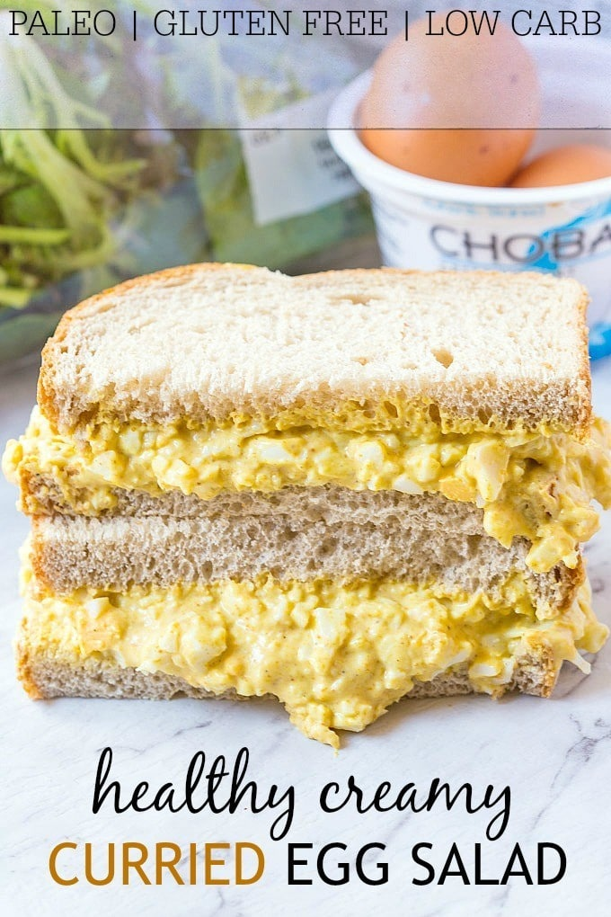 Curried Egg Salad- Creamy, easy and ready in no time, this curried egg ...