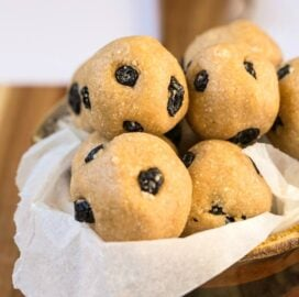 Keto and Low Carb Blueberry Muffin Energy Bites
