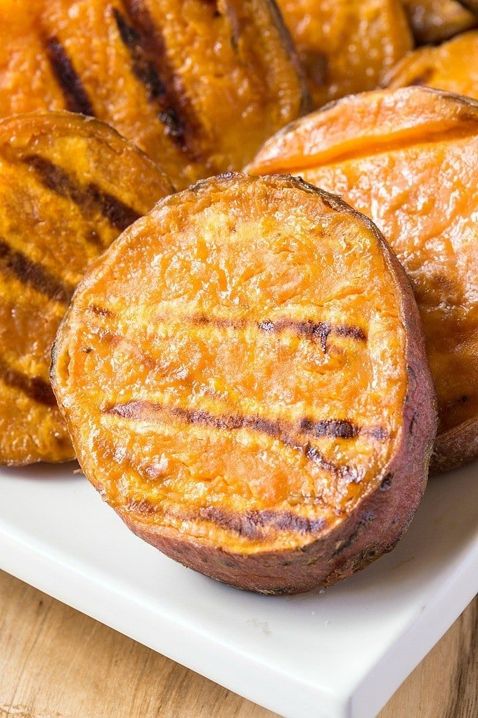 Easy Grilled Sweet Potato Disks and Wedges, made on the grill!