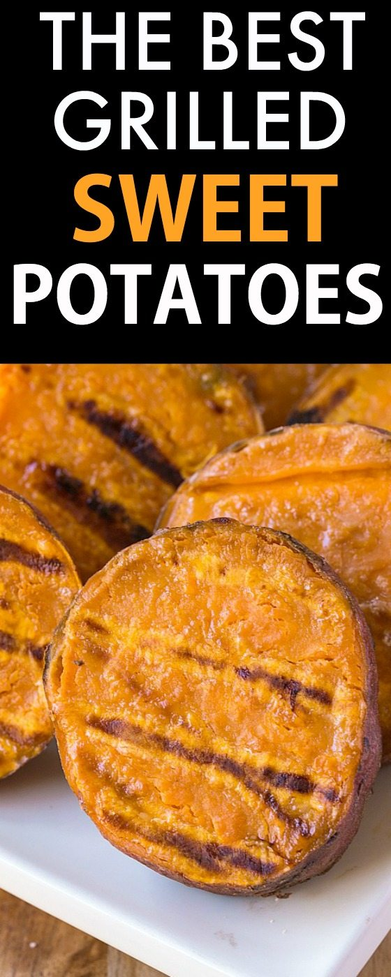 The BEST Grilled Sweet Potatoes Ever made using sweet potato disks, wedges, and even fries!