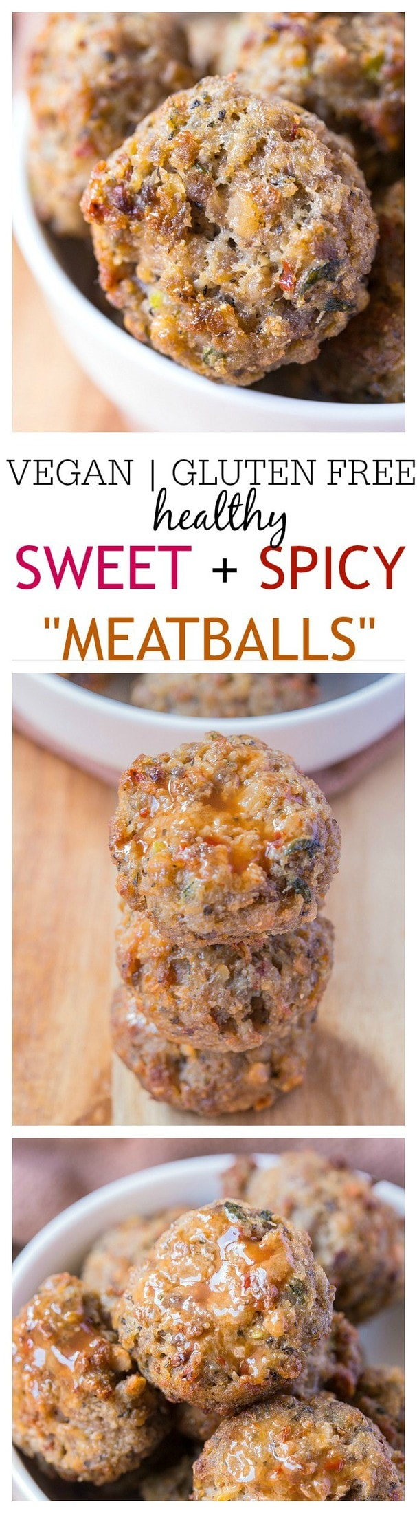 Vegan Sweet and Spicy Meatballs- These sweet and spicy 'meatballs' are a flavour explosion and they contain no meat! Perfect to whip up in a big batch, they are gluten free, vegan, dairy free and perfect for meatless Monday or a meat free meal! @thebigmansworld - thebigmansworld.com