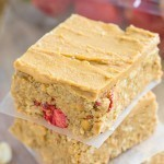 No Bake Peanut Butter and Strawberry Bars