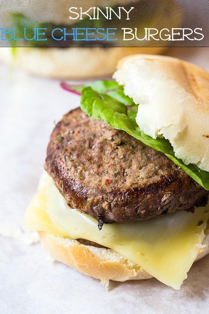 Skinny Blue Cheese Burgers