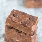 Healthy No Bake Double Chocolate Fudge