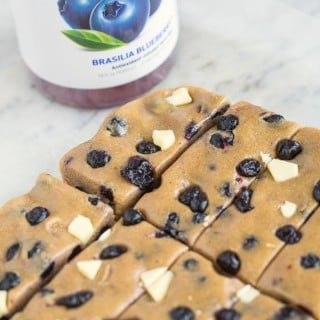 Healthy No Bake Blueberry White Chocolate Snack Bars