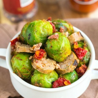 Warm Brussels Sprouts and Chorizo Salad