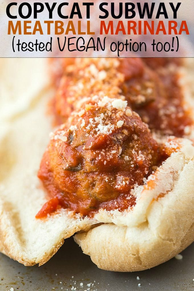 recipe: meatball marinara subway recipe [2]