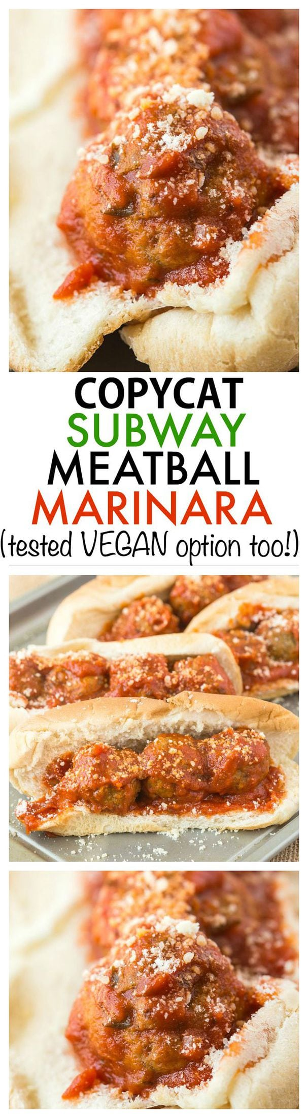 Copycat Subway Meatball Marinara Sandwich- Much more delicious that the original without the additives and tested with BOTH a paleo and VEGAN option without sacrificing taste! {vegan, paleo, gluten-free} -thebigmansworld.com