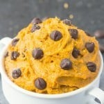 Healthy Pumpkin Cookie Dough for one (Paleo, Vegan, Gluten Free)