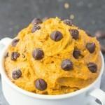 Healthy Pumpkin Cookie Dough for one (Paleo, Vegan, Gluten Free)