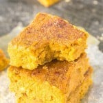 Healthy Flourless Pumpkin Gingerbread Blondies (Paleo, Vegan, Gluten Free)
