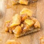 Healthy No Bake Salted Caramel Apple Slice