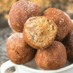 Healthy No Bake Snickerdoodle Bites (Paleo, Vegan, Gluten Free)
