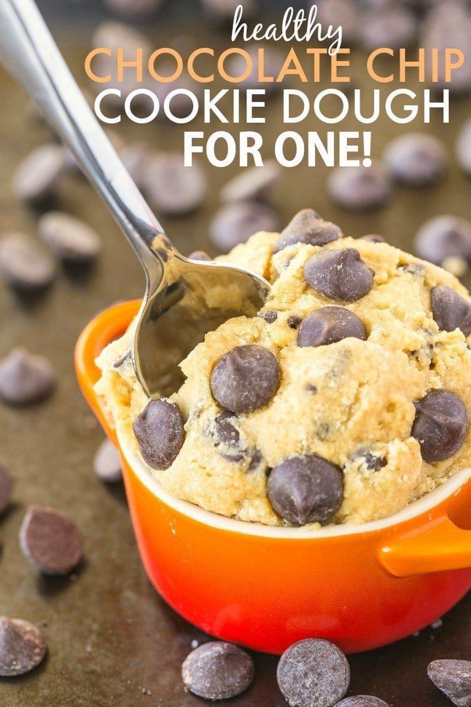 Healthy Classic Cookie Dough For One Paleo Vegan Gluten Free