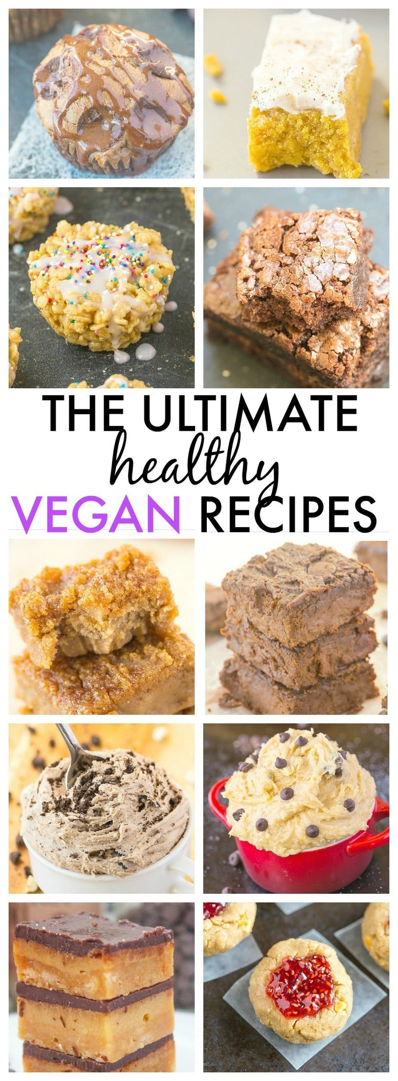 The Ultimate HEALTHY Vegan recipes which taste anything but- Quick, easy and perfect to cure the sweet tooth! {gluten free, paleo, sugar free options}