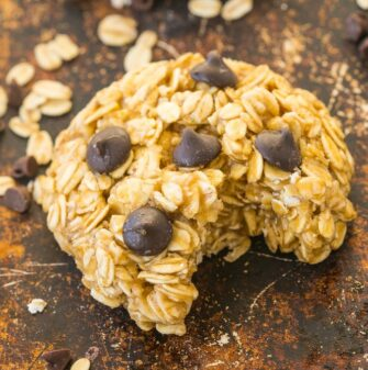 3 Ingredient No Bake Oatmeal Cookies