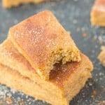 Healthy No Bake Cinnamon Bun Protein Bars