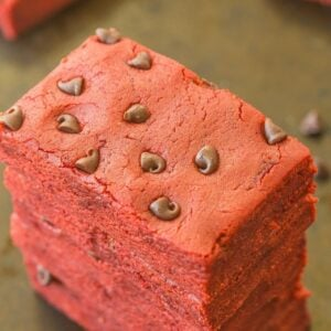 red velvet bars no bake