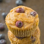 Healthy 5 Ingredient Banana Blueberry Muffins