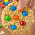 Healthy No Bake Giant Monster Cookie for One