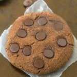 Healthy Chocolate Brownie Cookies packed with protein and 100% GRAIN FREE! They taste like a normal cookie too- NO butter, oil, grains or sugar at all! {vegan, gluten free, paleo recipe}- thebigmansworld.com
