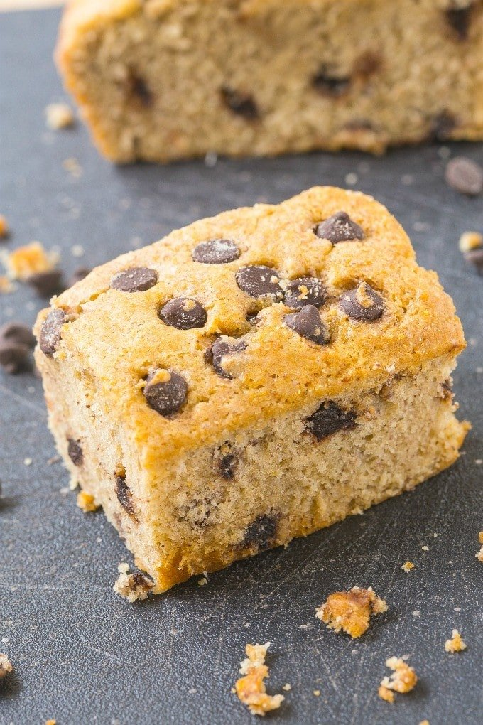Healthy Flourless Banana Breakfast Cake- Light and fluffy on the inside, tender on the outside, LOADED with bananas and made with NO butter, oil, flour or sugar! {vegan, gluten free, paleo recipe}- thebigmansworld.com